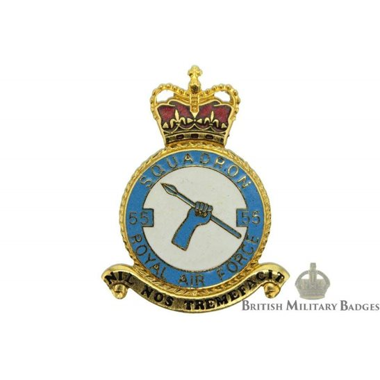 RAF Squadrons 55 Squadron Royal Air Force PLAQUE Badge RAF