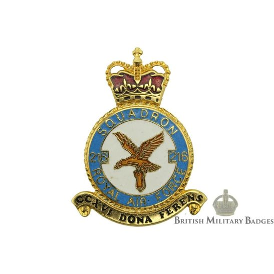 RAF Squadrons 216 Squadron Royal Air Force PLAQUE Badge RAF