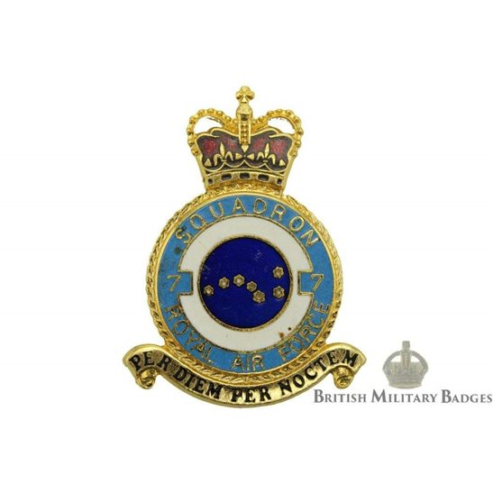 RAF Squadrons 7 Squadron Royal Air Force PLAQUE Badge RAF