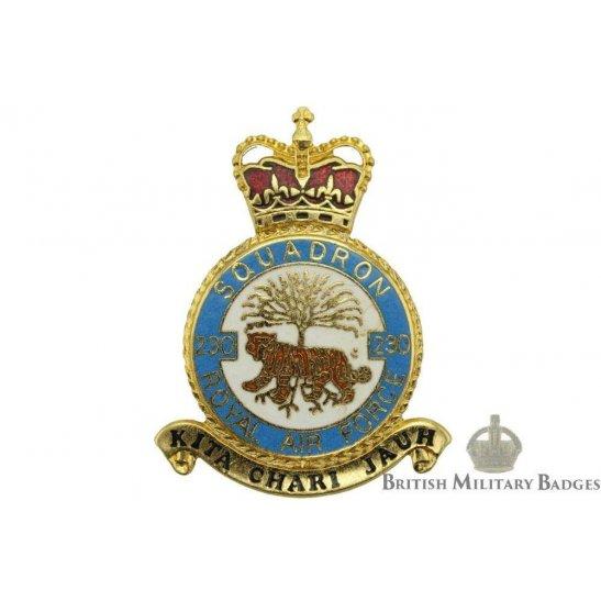 RAF Squadrons 230 Squadron Royal Air Force PLAQUE Badge RAF