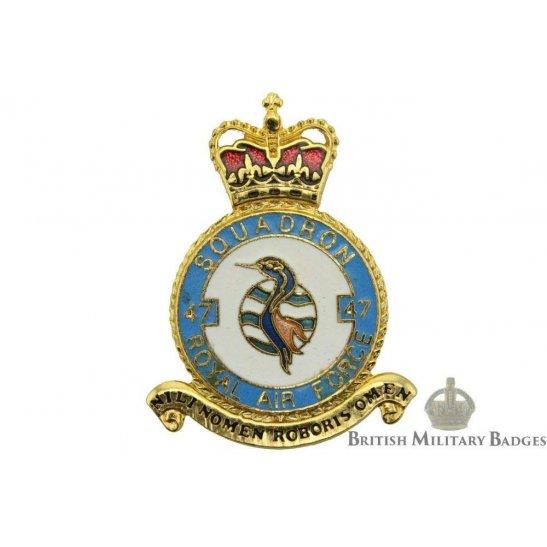 RAF Squadrons 47 Squadron Royal Air Force PLAQUE Badge RAF