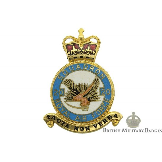 RAF Squadrons 20 Squadron Royal Air Force PLAQUE Badge RAF