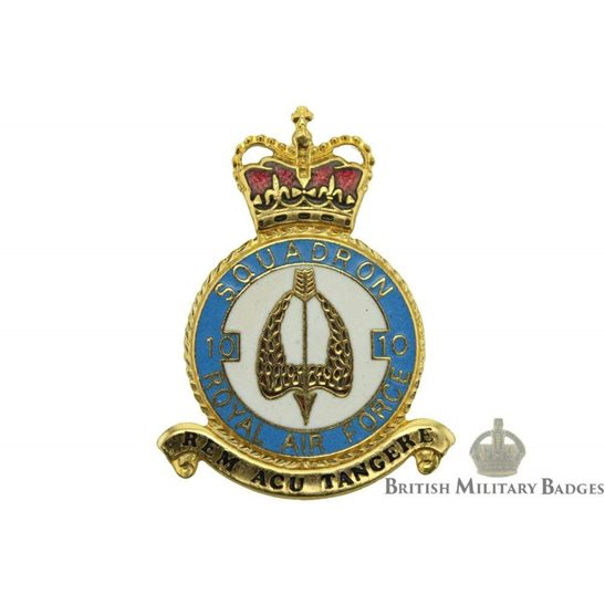 RAF Squadrons 10 Squadron Royal Air Force PLAQUE Badge RAF