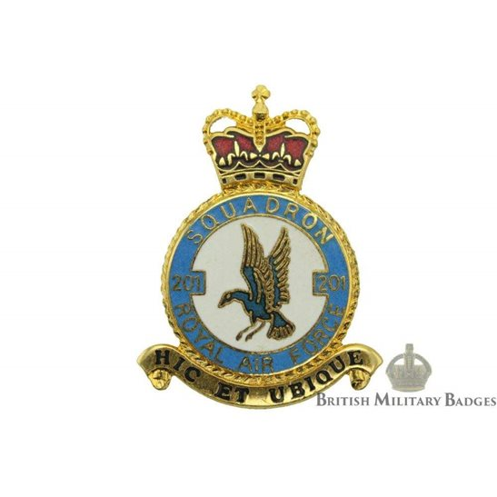RAF Squadrons 201 Squadron Royal Air Force PLAQUE Badge RAF