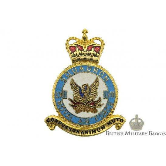 RAF Squadrons 57 LVII Squadron Royal Air Force PLAQUE Badge RAF