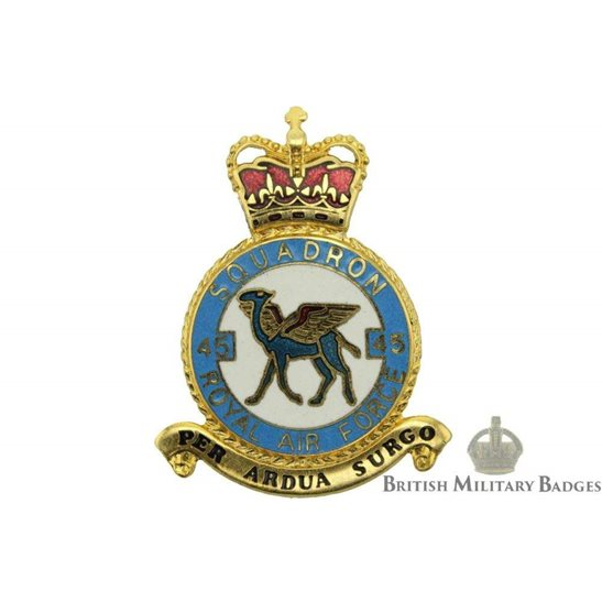 RAF Squadrons 45 Squadron Royal Air Force PLAQUE Badge RAF