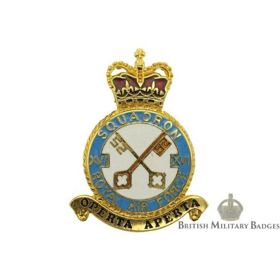RAF Squadrons 16 XVI Squadron Royal Air Force PLAQUE Badge RAF