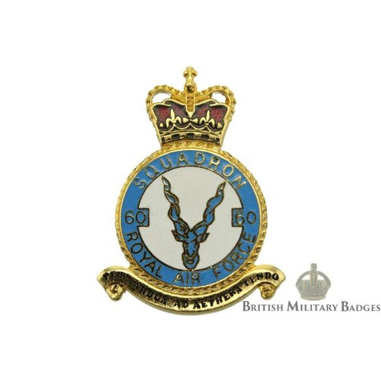 RAF Squadrons 60 Squadron Royal Air Force PLAQUE Badge RAF