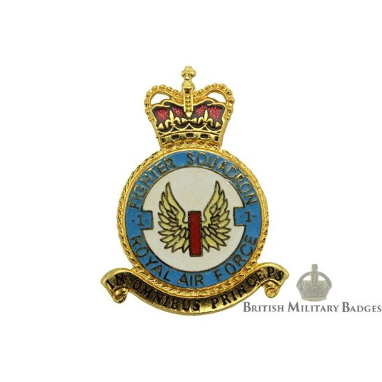 RAF Squadrons 1 Fighter Squadron Royal Air Force PLAQUE Badge RAF