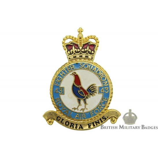 RAF Squadrons 43 Fighter Squadron Royal Air Force PLAQUE Badge RAF