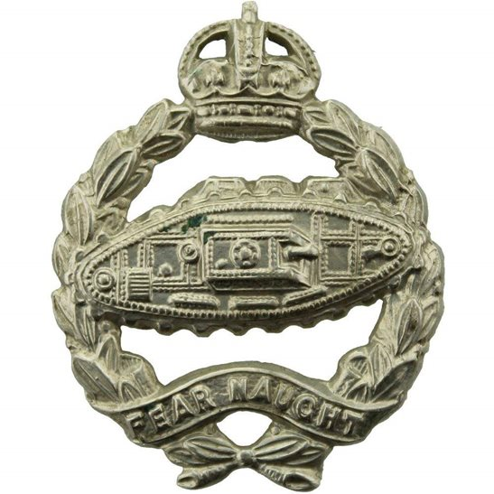 Royal Tank Regiment WW2 Royal Tank Regiment Corps Collar Badge