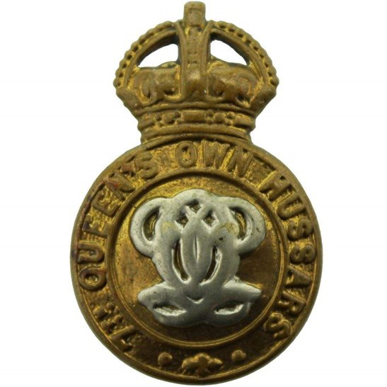 7th Hussars 7th Queens Own Hussars Regiment (Queen's) Collar Badge