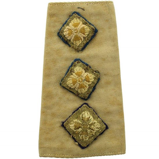 WW2 British Army Officers CLOTH Slip-On Epaulette Insignia Pips - Rank of Captain