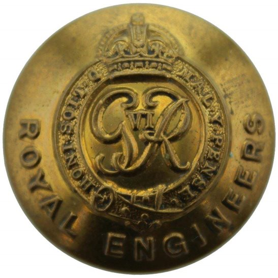 Royal Engineers WW2 Royal Engineers Corps (George VI) Tunic Button - 25mm