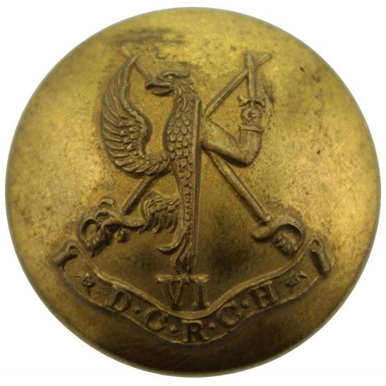 WW2 Canadian Army 6th Duke of Connaughts Royal Canadian Hussars Regiment of Canada Tunic Button - 26mm