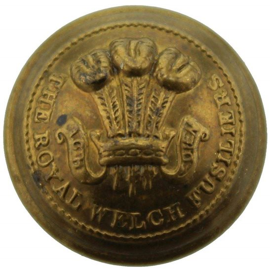 Royal Welsh Fusiliers WW2 Royal Welch Fusiliers Regiment (Welsh) Tunic Button - 19mm