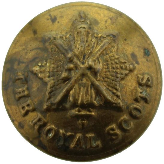 Royal Scots WW1 The Royal Scots Regiment Scottish SMALL Tunic Button - 18mm
