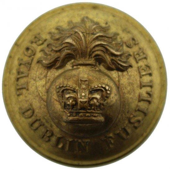 Royal Dublin Fusiliers VICTORIAN Royal Dublin Fusiliers Tunic Button - 26mm