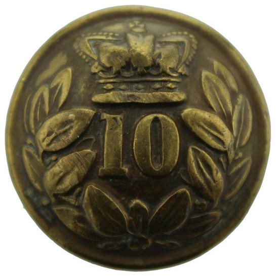 Lincolnshire Regiment VICTORIAN 10th Regiment of Foot (North Lincoln) 1855-1881 Tunic Button - 25mm