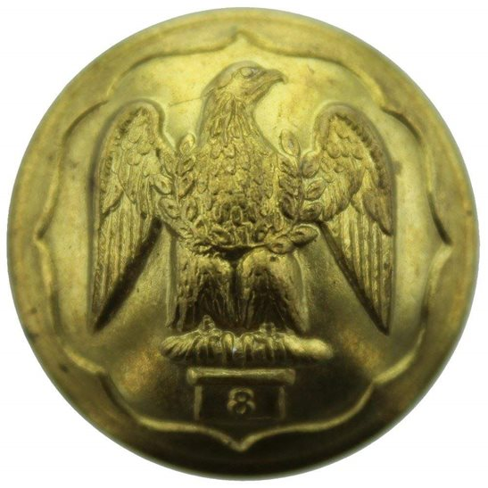 Royal Irish Fusiliers Royal Irish Fusiliers Regiment Tunic Button - 26mm
