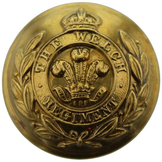 Welch Regiment WW2 The Welch Regiment Tunic Button - 26mm