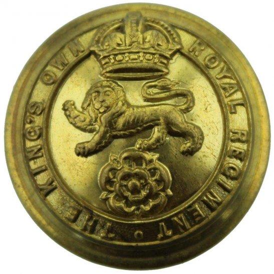 Kings Own Royal Lancaster WW1 Kings Own Royal Lancaster Regiment King's Tunic Button - 26mm