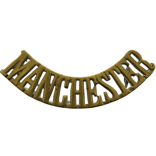 Manchester Regiment WW1 Manchester Regiment Shoulder Title
