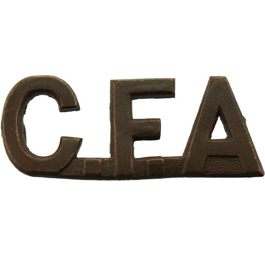 WW1 Canadian Army WW1 Canadian Field Artillery CFA Canada Shoulder Title