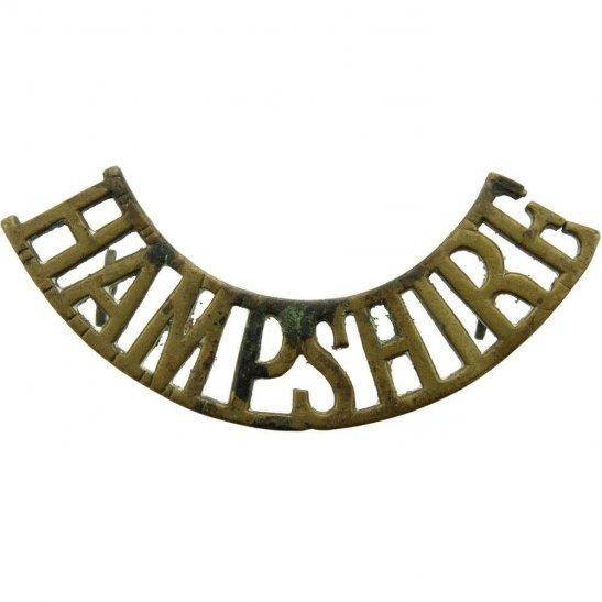 Hampshire Regiment WW1 The Hampshire Regiment Shoulder Title