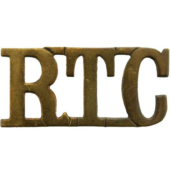 Royal Tank Corps WW1 Royal Tank Corps RTC Shoulder Title