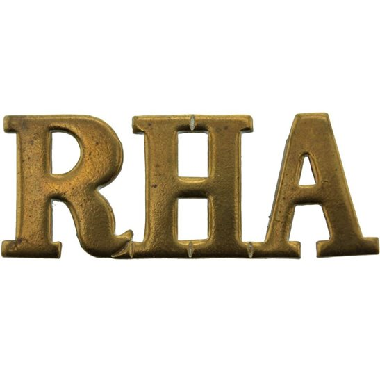 Royal Horse Artillery RHA WW1 Royal Horse Artillery Regiment RHA Shoulder Title