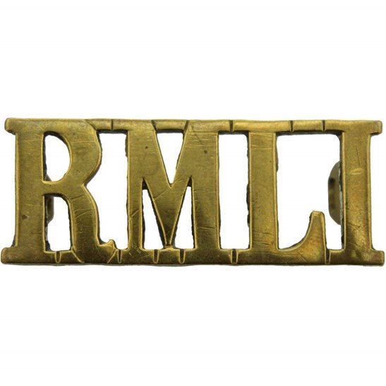 Royal Marine Light Infantry RMLI WW1 Royal Marine Light Infantry RMLI Regiment Shoulder Title