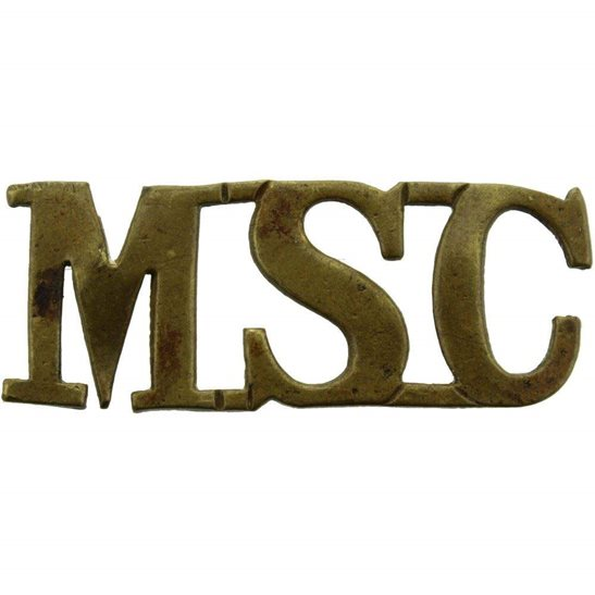 Royal Army Medical Corps RAMC Victorian Medical Staff Corps MSC (RAMC) Shoulder Title