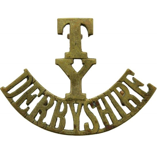 Derbyshire Yeomanry WW1 Derbyshire Yeomanry Territorial Regiment Shoulder Title