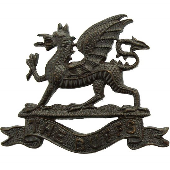 Buffs (Royal East Kent) Royal East Kent (The Buffs) Regiment OFFICERS Bronze Collar Badge