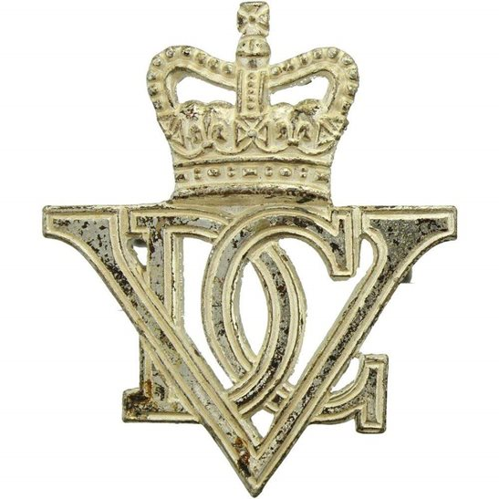 5th Dragoon Guards 5th Royal Inniskilling Dragoon Guards Irish Regiment Cap Badge - Queens Crown