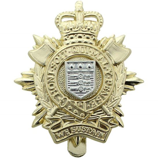 Royal Logistic Corps Royal Logistic Corps Staybrite Anodised Cap Badge - Staybright