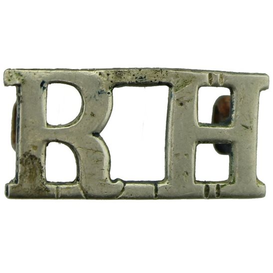 Black Watch WW1 Royal Highland (Black Watch) Regiment RH Shoulder Title - WHITE METAL
