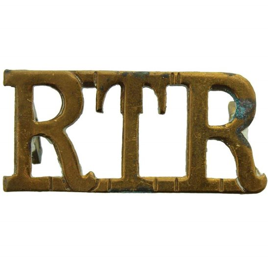 Royal Tank Regiment WW2 Royal Tank Regiment RTR Shoulder Title
