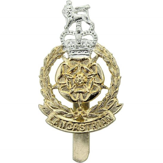 Lancastrian Infantry Brigade Staybrite Anodised Cap Badge - Staybright