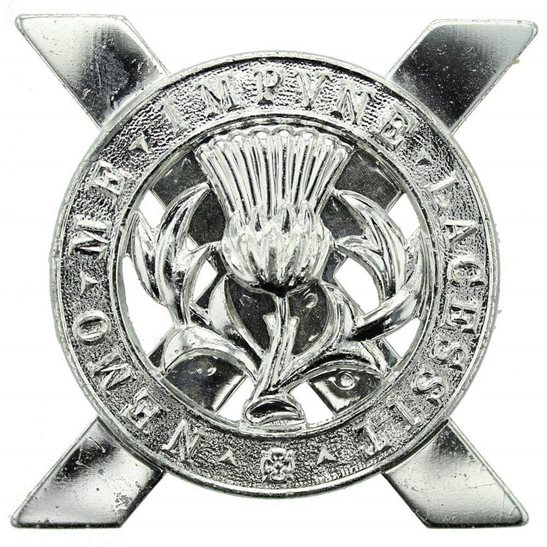 Lowland Infantry Brigade Scottish Staybrite Anodised Cap Badge - Staybright