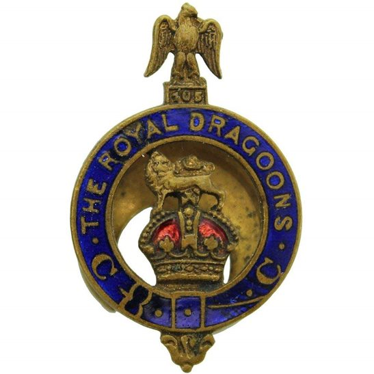 1st Royal Dragoons 1st Royal Dragoons Regiment Old Comrades Association OCA Lapel Badge