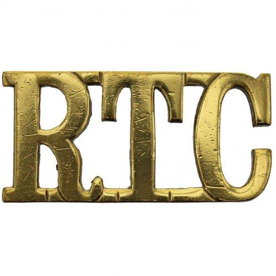 Royal Tank Corps WW1 Royal Tank Corps RTC Shoulder Title