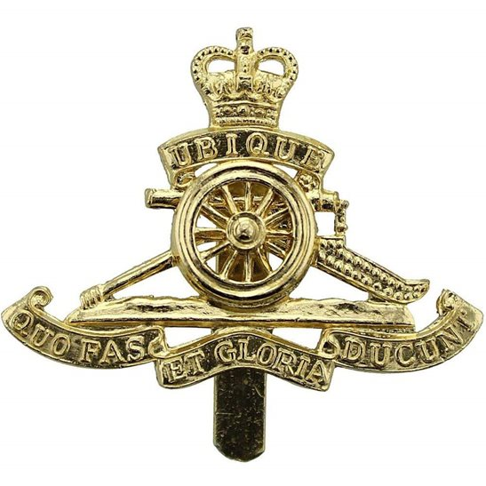 Royal Artillery Royal Artillery Regiment Staybrite Cap Badge - Staybright, Anodised