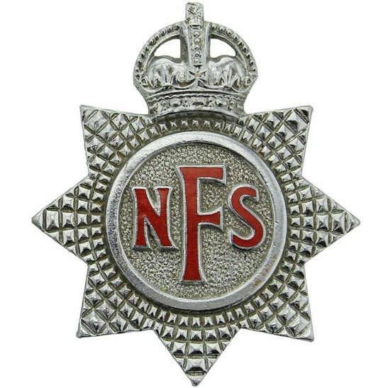 Auxiliary Fire Service WW2 National Fire Service Brigade Corps NFS Cap Badge