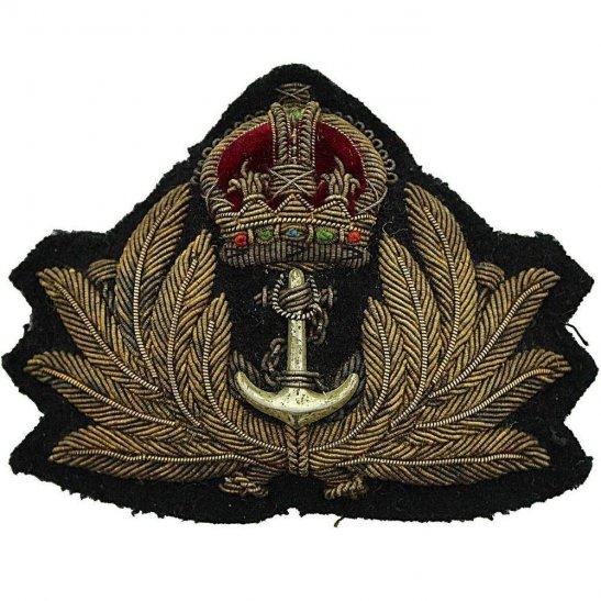 5f727a49e Royal Navy WW1 British Royal Navy Petty Officers Cloth Bullion Cap Badge