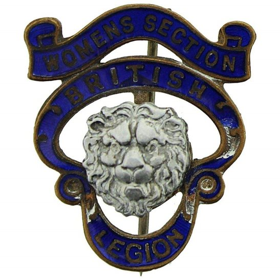 Womens Section Royal British Legion RBL Lapel Badge