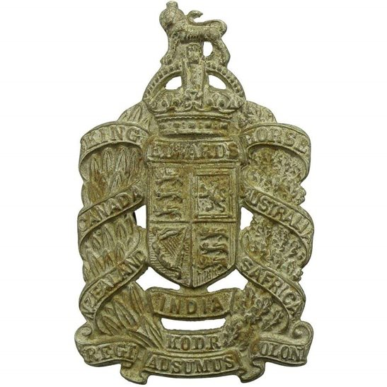 King Edwards Horse WW1 King Edwards Horse Overseas Dominion Colonial Regiment (Edward's) Cap Badge