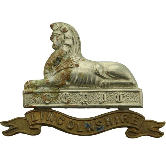 Lincolnshire Regiment Lincolnshire Regiment Cap Badge - LUGS VERSION