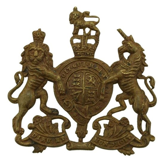 General Service Corps General Service Corps / Regiment Cap Badge - Queens Crown